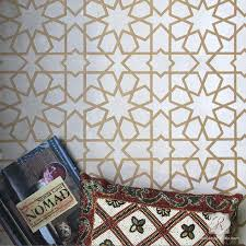 Decorative Designs Painted on Wall Decor - Moroccan and Geometric Pattern  Stencils - Royal Design Studio ...