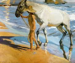 joaquín sorolla y bastida el baño del caballo