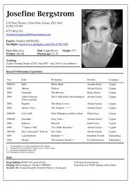 Bistrun Sample Theatre Resume Sample Acting Resume Template To