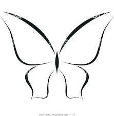 Printable Butterfly Outline Butterfly Printable Template Detail Butterfly Template