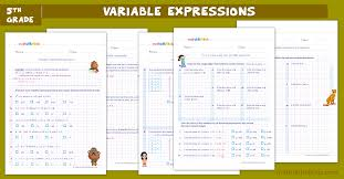 algebraic expressions worksheets for
