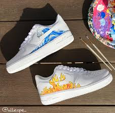 Cool Designs To Paint On Shoes Hand Painted Air Forces Sneakers Fashion Outfits