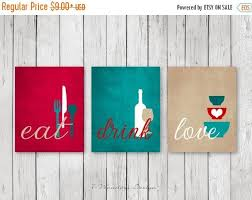 kitchen wall decor sets motivate art print set eat drink love red teal tan white intended for 3  on eat drink love canvas wall art with kitchen wall decor sets motivate art print set eat drink love red