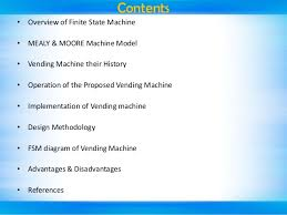 Vending Machine Reset Code Delectable Seminar Presentation On FSM Based Vending Machine