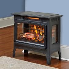 electric fireplace stove. duraflame 3d black infrared electric fireplace stove with remote control - dfi-5010-01 i