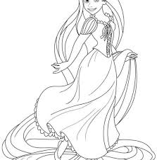Easy Rapunzel Coloring Pages Disney Baby All Princess Free