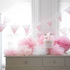 Pom Pom Decorations Large Pink Tulle Pom Pom Decoration Set Of Three By Little Baby
