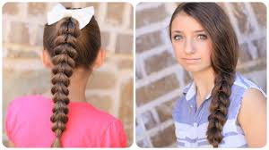 Pretty Girl Hair Style how to create a pullthrough braid easy braided hairstyles youtube 3693 by wearticles.com