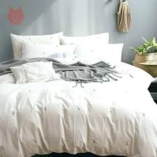 japanese style bedding sets set small daisy fl embroidery pure cotton duvet cover fitted