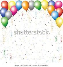 Happy Birthday Background Images Happy Birthday Background Balloons Confetti Serpentine Stock Vector