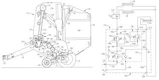 patent us6272825 round baler having hydraulically sequenced patent drawing