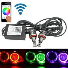 Us 97 8 Free Shiping Canbus H8 Wifi Phone Control Rgb Led Angel Eye Led Marker E92 Color Changing For Bmw X5 E70 X6 E71 E90 E91 E92 M3 In Car Light