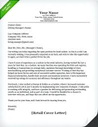 Sample Cover Letters For Retail Vitadance Me