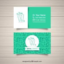 dental visiting card design dentist business card template vector free download
