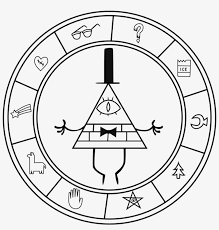 Bill Cipher Coloring Pages 2 By Joseph Gravity Falls Bill Logo