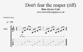 don t fear the reaper sheet music blog archives