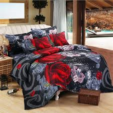 3d red rose of love bedding set digital printing duvet cover set pillowcases twin full queen super king size customizable duvet protectors luxury bedding