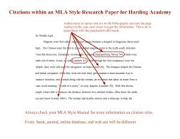 Research Paper Samples How To Cite In The English Emporium Mla