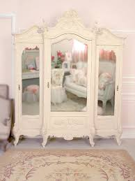 white wood wardrobe armoire shabby chic bedroom. Shabby Chic White Wood Wardrobe Armoire Bedroom C