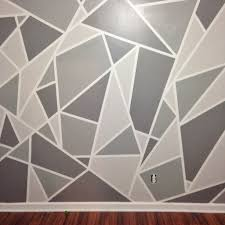 DIY Faux Wallpaper Accent Wall Statement Wall DIY Wallpaper | Gray ...