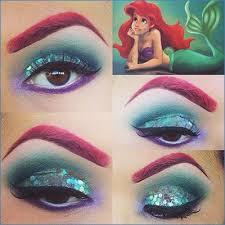 disney little mermaid makeup tutorials how to beauty looks ariel eye makeup