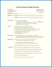 Undergraduate Student Resume Template - Embersky.me