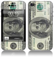 apple iphone 100. sticker cover for apple iphone 4 / 4s 100 dollars iphone p