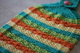 Hot Stripes Hanging Dish Towel and Hot (Diagonal) Stripes ... - Ravelry