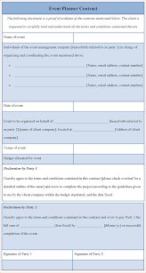 Event Coordinator Contract Template 24 Event Planner Contract Template Timeline Template 9