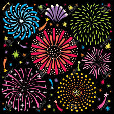 cartoon fire works cartoon fireworks no transparency and gradients used royalty free