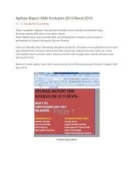 Contoh penulisan raport kurikulum 2013 by sharej in types > legal forms and raport 2013. Aplikasi Raport K13 Smk Revisi 2019 Gratis Ilmusosial Id