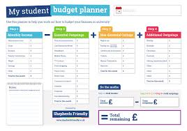 Student Budget Planner Infographic Budget Planner College
