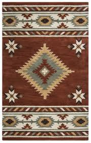 rizzy southwest su 1822 rust area rug