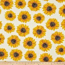 Sunflower Pattern Best Kanvas Forever Sunflowers Metallic Spaced Sunflower Cream Discount
