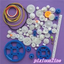<b>80pcs K015Y Plastic DIY</b> Gear Set Single Double Layer Crown Shaft ...