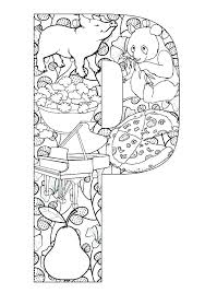 Letter P Printable Coloring Pages Printable Letter P Coloring Page