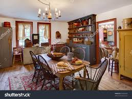 colonial style dining room furniture. Baby Nursery: Knockout Image Dining Room Primitive Colonial Style Stock Photo An Of A And Furniture I