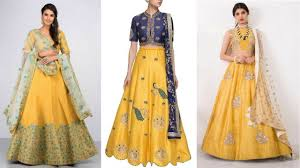 Lehenga Design In Yellow Colour Gorgeous Yellow Lehenga Designs Designed By Top Designers