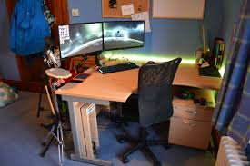 home office computer workstation. Desk Home Office 2017. Computer And Design Made From Dark Brown Mahogany Workstation