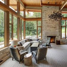 contemporary rustic furniture. Modern Rustic Furniture Living Room Transitional With Antler Chandelier Clerestory Windows. Image By: Colby Construction Contemporary F