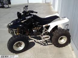yamaha four wheelers. 2004 yamaha warrior 350 4 wheeler for sale. has a yoshimura pipe. new battery, clutch cable, breaks and front tires. runs great ready to ride. four wheelers o