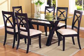 marvelous glass top dining table set 25