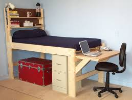 Convertible Desk Bed Shown With The Short Desk At The End Of The Bed High Rise Low