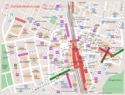 shinjuku station map  japan station  pinterest  japan and