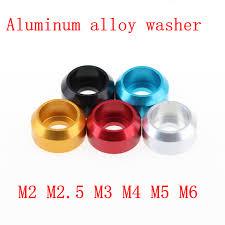 <b>50pcs</b> M2 M2.5 <b>M3</b> M4 M5 M6 Aluminum <b>Alloy</b> Cup head Washer ...