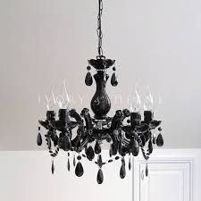 black chandelier vintage marie therese glass crystal 5 arm light lamp new gift