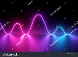 Neon Light Spectrum 3d Render Neon Light Laser Show Stock Illustration 1253732725