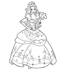 Coloriage De Princesse Barbie En Ligne