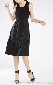 Bcbgeneration Shoe Size Chart Lynsey Knit Tiered Bcbg Black Sleeveless Formal Dress Bcbg
