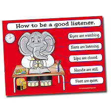 Good Habits Chart For School Details About How To Be A Good Listener Teacher Educational School Classroom Poster A2 Kids